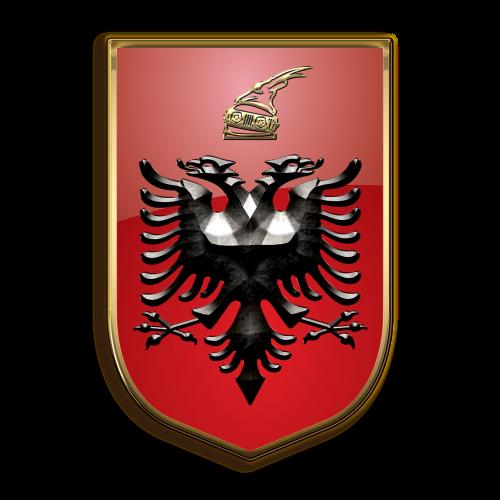 albania coat of arms heraldry