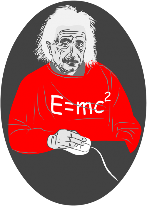 albert einstein mouse white hair