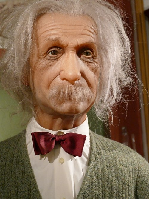 albert einstein  wax figure  hamburg
