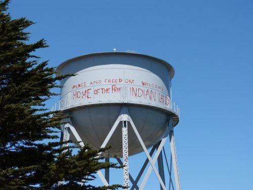 alcatraz water tower california