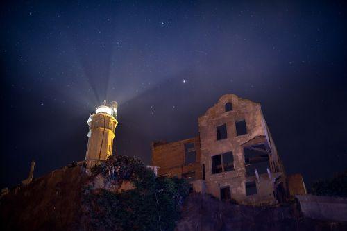 alcatraz lighthouse night stars
