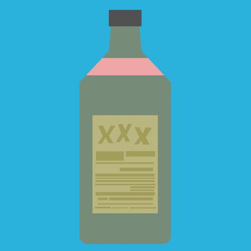 alcohol schnapps bottle
