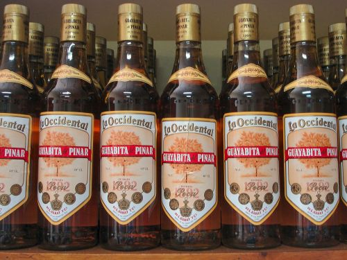 alcohol cuba bottles