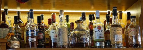 alcohol drinks selection