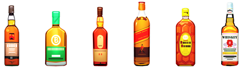 alcohol  bottles  whiskey