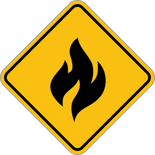 alert fire warning