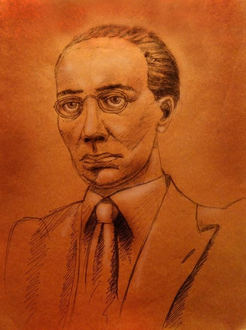 alexander belyaev  writer  a portrait in pencil