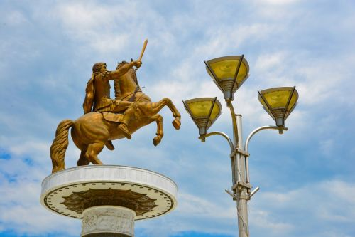 alexander the great skopje statue