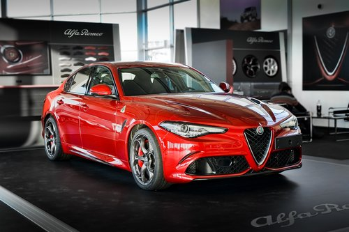alfa romeo  red  car