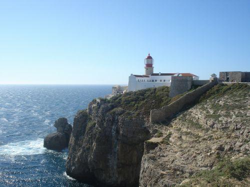 algarve lighthouse sea