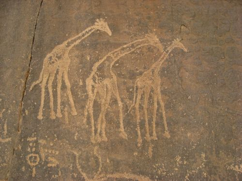 algeria cave paintings ancient writing