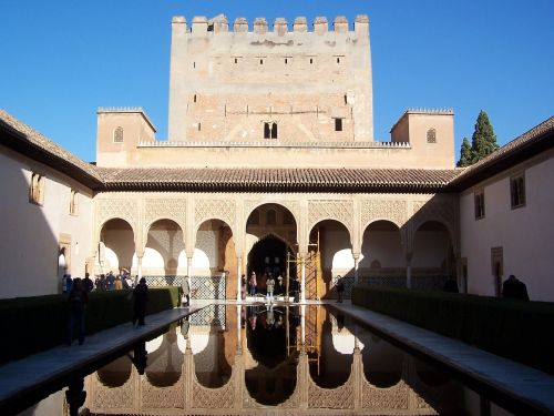 alhambra water reflection culture