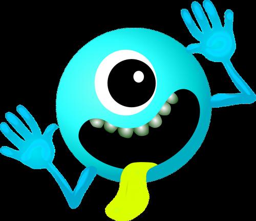 alien light blue smiley