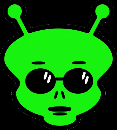 alien face horns