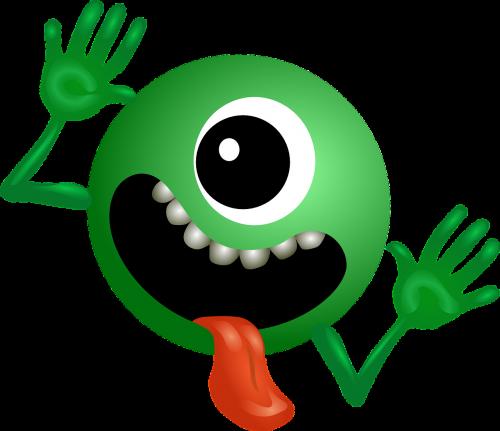 alien green smiley