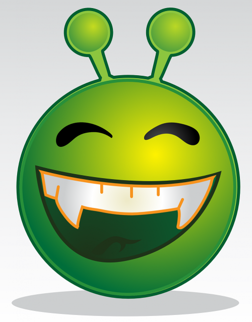 alien smiley monster