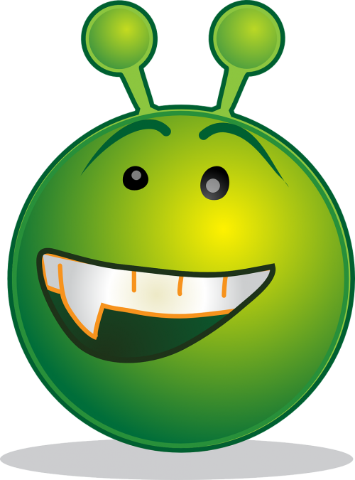 alien smiley design