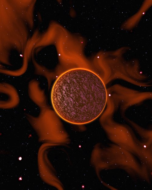alien planet  plant  cosmos