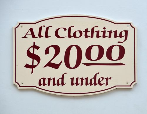 All Clothes Twenty Dollars And Less
