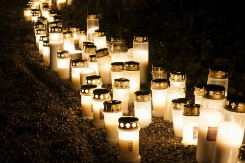 all saints ' day memorial candles grief