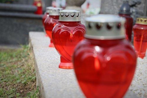 all saints day  svi sveti  red candles