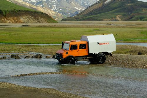 visureigė transporto priemonė,iceland,landmannalaugar,torrent,sunkvežimis,nuotykis