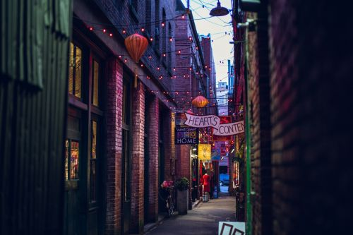 alley urban storefronts
