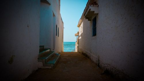 alley sea sea view
