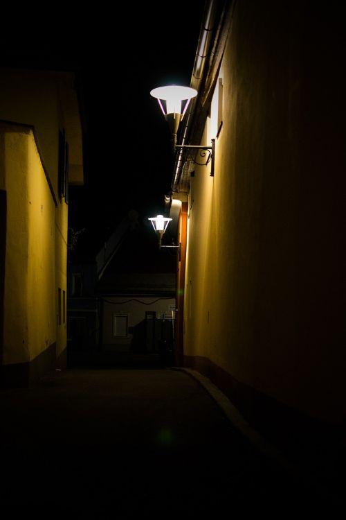 alley road lantern