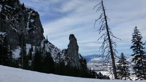 allgäu winter backcountry skiiing