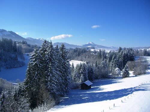 allgäu winter mountain panorama