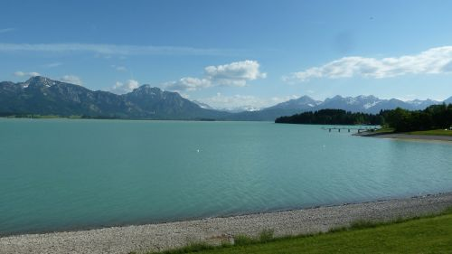 allgäu lake forggensee spring
