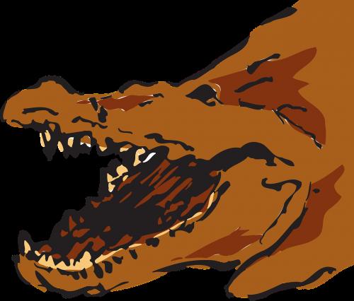 alligators brown mouth