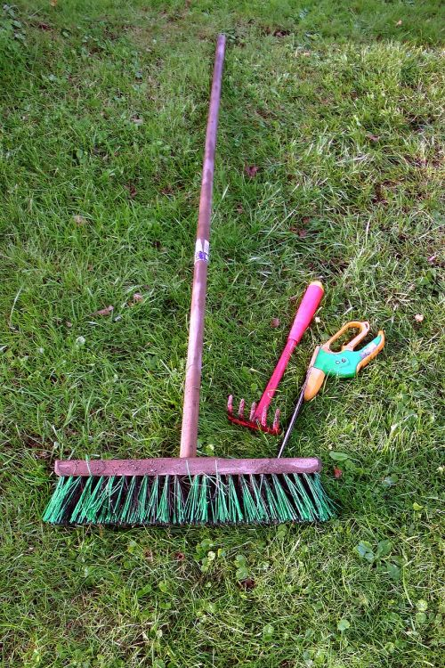 allotment gardening equipment broom