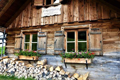 alm mountain hut step pasture