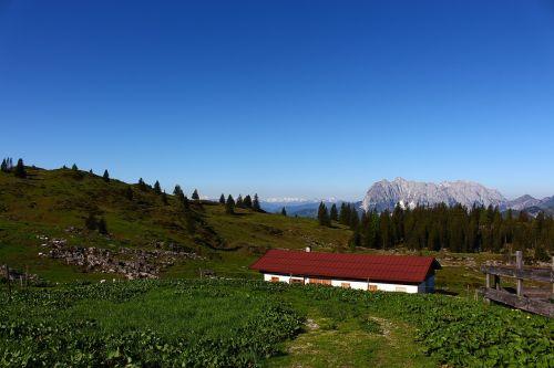 alm hut meadow
