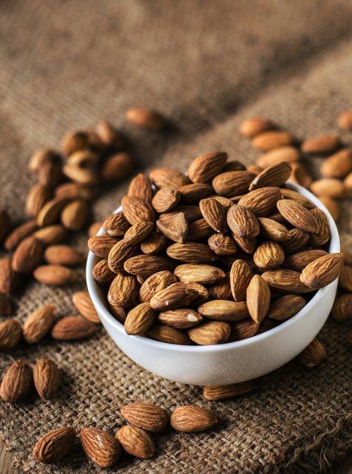 almond  bowl  brown