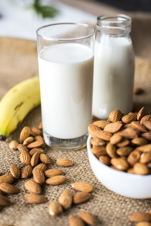 almond  almond milk  banana