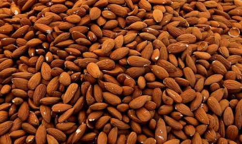 almonds cores nuts
