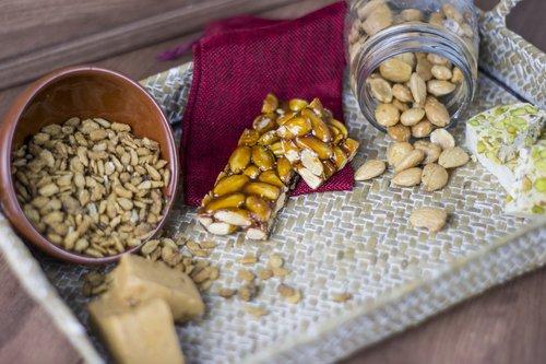 almonds  nougat  still life