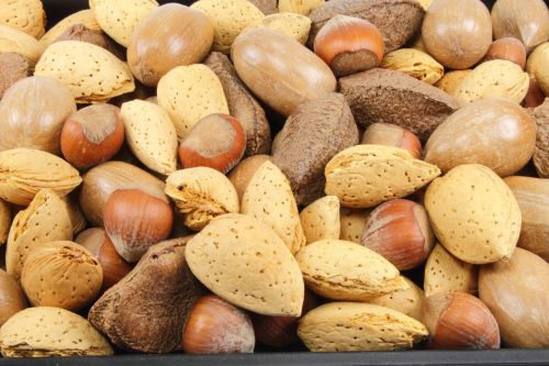 almonds nuts hazelnuts