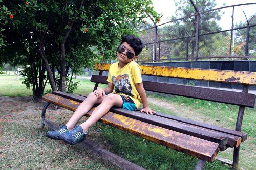 alone boy park