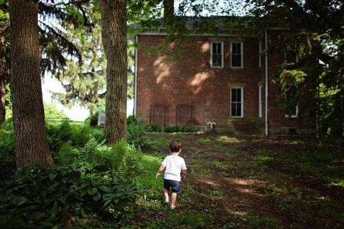 alone architecture boy