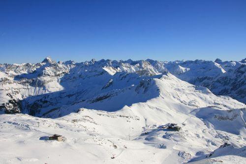 alpenblick winter mountains