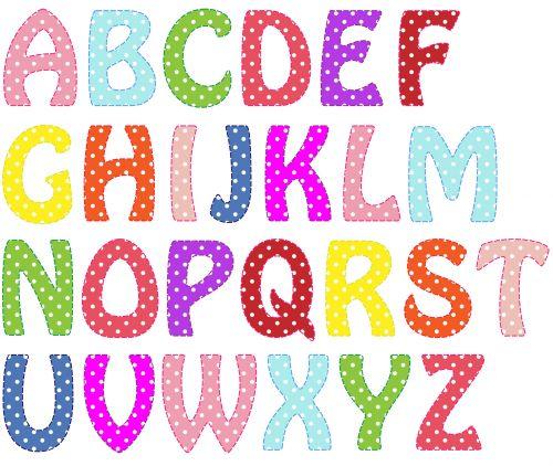 Alphabet Letters Bright Colors