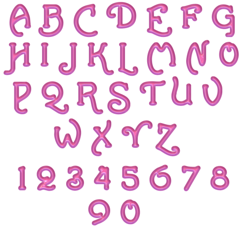 alphabet letters numbers