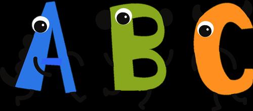 alphabet  school  cartoon