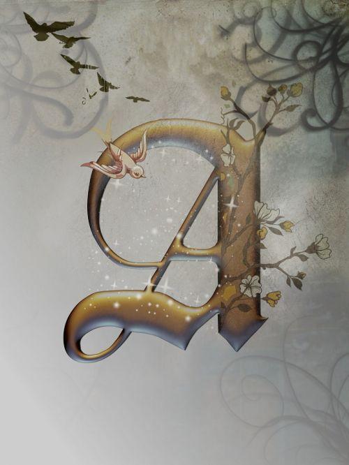 alphabet letter gold