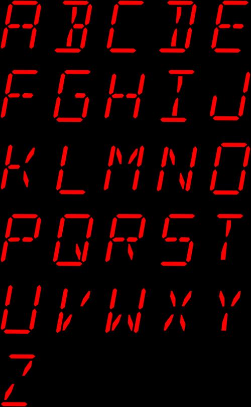 alphabet letters font