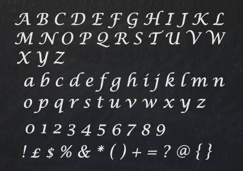 Alphabet Letters Chalkboard